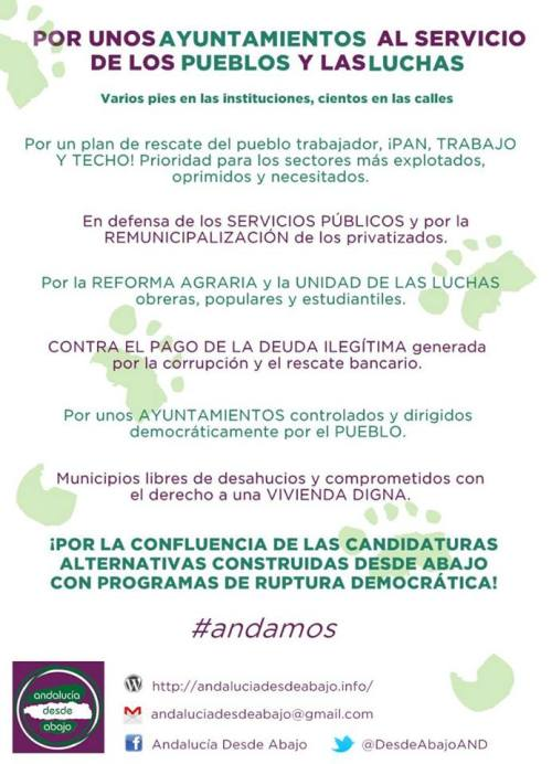 Cartel Acto Candidaturas Alternativas 2