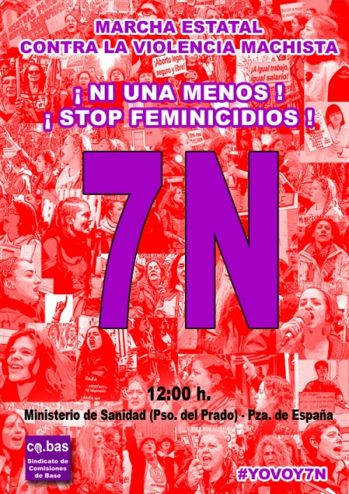 Marcha 7N Madrid contra Violencia Machista