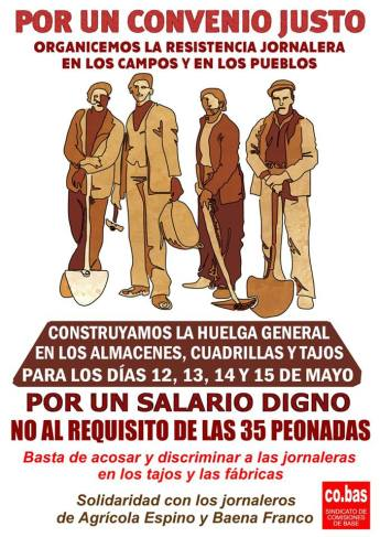 Huelga en el campo por un convenio justo